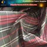Tafetán del poliester, tela teñida de los hilados de polyester con el calendario del petróleo para la chaqueta
