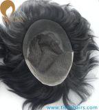 人のための自然な見るインドのRemyの毛のレースの前部Toupee