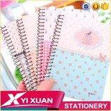 Cuaderno espiral de encargo plástico del libro de ejercicio de la cubierta de PP/PVC/A4 A5