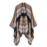 Dame Oversize New Stylish Woven Gestreepte AcrylKaap/Sjaal (H09)