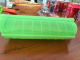 Forno de microondas de qualidade alimentícia Use caixa de cozedura de silicone de platina Caixa de sopa de prato