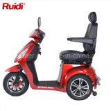 Scooter à grande vitesse de mobilité de tricycle de roues du moteur 3 du balai 950W