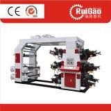 Высокоскоростная печатная машина Flexo цвета полиэтиленового пакета 6