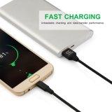 Micro cabo do USB, nylon durável frente e verso trançado para dispositivos Android