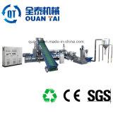 Granulado de plástico reciclado que hace la máquina
