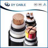 cable de transmisión acorazado del voltaje 600/1000V del cobre de la cinta de acero media del conductor