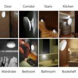 Lâmpada de noite de alta qualidade de 360 graus, USB Charge LED Sensor de corpo humano Luz noturna, Sensor de corpo rotativo Luz noturna
