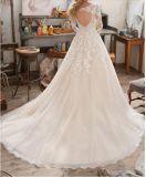 2017 vestidos de casamento nupciais Wd1710 do laço longo da luva