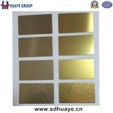Panneau décoratif titanique de feuille d'acier inoxydable de couleur d'or pour l'ascenseur