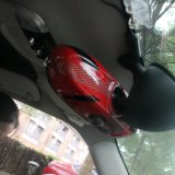 Estilo interior rojo protegido ULTRAVIOLETA material de gato de unión de la cubierta del espejo de 2014 últimos ABS de Mini Cooper para Mini Cooper F56 (1 PCS/Set)