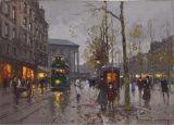 Peinture à l'huile de vue de rue d'horizontal de réaliste pour la décoration d'hôtel
