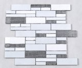 Pietra della striscia lunga e mattonelle di mosaico di marmo naturali di cristallo