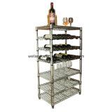 記憶のための調節可能なクロム金属のワインラック棚