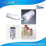 Cbb80 점화 축전기 알루미늄 또는 플라스틱 깡통, 가벼운 축전기