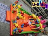 Città gonfiabile di divertimento per il gioco dei bambini