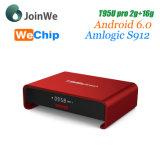 PRO 2g 16g TV cadre androïde de Hotselling Amlogic S912 T95u