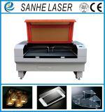 Machine de découpage de gravure de graveur de laser de CO2 en vente en plastique en caoutchouc en bois de Glsaa