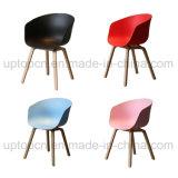 Silla plástica al por mayor con la base de madera de la silla en el vario color (SP-UC518)