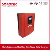 Inversor solar incorporado de la potencia del coche del negro del regulador de la carga de PWM