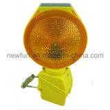 Luz solar da barricada do diodo emissor de luz do farol intermitente do tráfego com suporte do metal