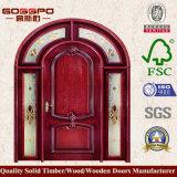 Portes d'entrée françaises en bois résidentielles en bois (GSP2-036)