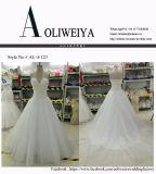 Grânulo/pérola/Rhinestone novo/vestidos de casamento de cristal com trem de Tulle