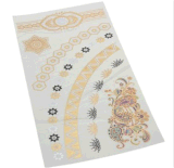 Etiqueta engomada temporal impermeable metálica del tatuaje de la plata del oro del encadenamiento de flor