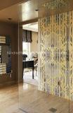 Modelo de mosaico de cristal de oro para la decoración de la pared