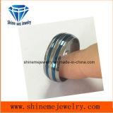 Голубое кольцо перста ювелирных изделий Placted удобное полируя