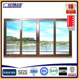 Portello scorrevole di legno di alluminio di isolamento termico con doppio vetro