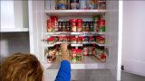 熱い2つの層の食料貯蔵室鍋の鍋のオルガナイザーの台所スタック可能棚付けの香辛料用の棚のぴりっとする棚およびスタック可能記憶ラックオルガナイザーEsg10192