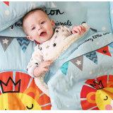 Löwe-netter Winter-starke neugeborene Baby-Zudecke
