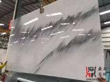 Слябы естественного каменного темного нефрита белые мраморный для строительного материала