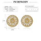 Das überzogene Gold der Frauen-18k pflastern Zirconia-Ohrring-Stift