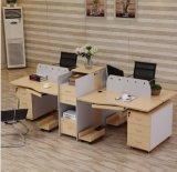 Hölzerner MDF-Büro-Partition-Block-Sekretärin-Personal-Arbeitsplatz (HX- NCD072)