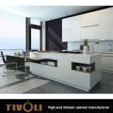 De Witte en Zwarte Keukenkasten van Tivoli met het ontwerp tivo-0189h van het Eiland