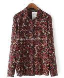 Camicia di cotone stampata delle donne