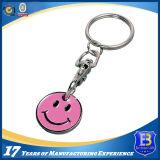 Kundenspezifische weiche Decklack-Laufkatze-Münze Keychain (Ele-TC021)