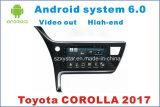 Novo Ui Android 6.0 Car GPS Player para Toyota Corolla 2017 com navegação de carro