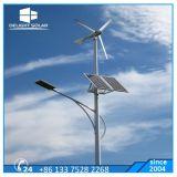 indicatore luminoso di via ibrido solare del vento delle lamierine della turbina di vento di 300W 400W 5