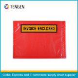 Mehrfachverwendbarer selbstklebender Verpackungs-Listen-Umschlag