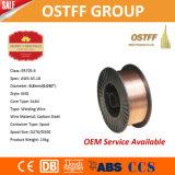 alambre de soldadura plástico de China MIG de la herida de la capa de la precisión del carrete 5kg de 0.8m m (ER70S-6)