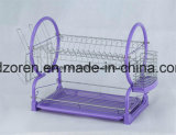 Dish Drainer 2 Tier Colorful Powder Coating Dish Drainer