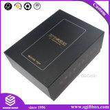 高品質のカスタム金ホイルの黒のペーパー贅沢な包装のギフト用の箱