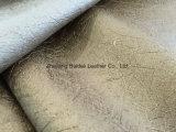 Couro sintético durável do PVC para o sofá/mobília/coxim coberto