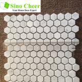 Azulejos de mosaico de mármol blancos de Bianco Carrara para la cocina Backsplash y el cuarto de baño