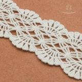 女性服のための白い花の綿のレースファブリック
