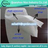 Matière première de serviette hygiénique/pulpe de duvet + papier d'absorbant de sève