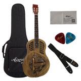 Guitarra Tricone do ressonador dos azuis do corpo de bronze de Bell do delta para a venda