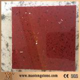 Galaxie-rote Farben-Quarz-Platte-reine Farben-Kristallquarz-Stein